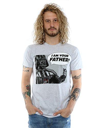 Star Wars Homme Darth Vader Pop Art T-shirt Medium Heather Gris