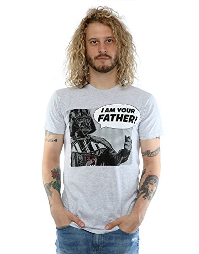 Star Wars Homme Darth Vader Pop Art T-shirt Medium Heather Gris