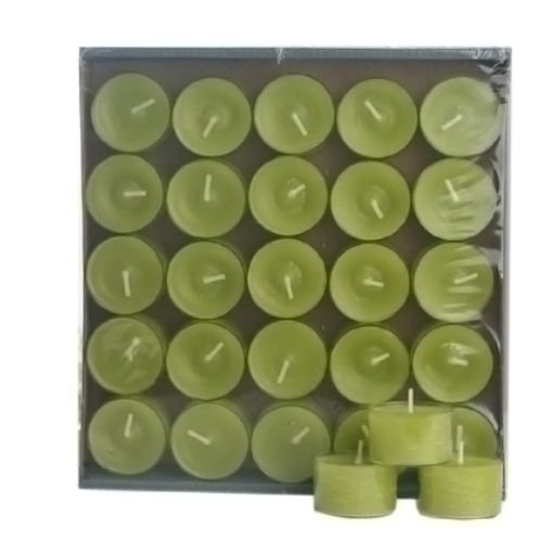 25 Stück Teelichter im Acryl Cup,