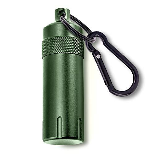 携帯灰皿 キーリング & カラビナ付き 男女兼用 大容量 軽量 おしゃれ 防水 持ち運び便利 臭い漏れなし