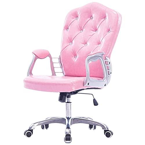 Silla de oficina ejecutiva, función de columpio de oficina en casa Silla cómoda, silla giratoria de 360 °, ergonómico, material de cuero de PU (altura de asiento ajustable: 45-53 cm / 18-21 pulgadas