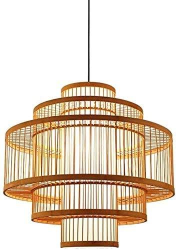 GYL Kronleuchter, dekorative Lichter, Hängelampen, Bambuszweige, Korbleuchter, handgefertigte Rattan-Lampenschirme, Wohnzimmer, Bars, Schlafzimmer, Restaurants, Schaffung einer eleganten Atmosphäre