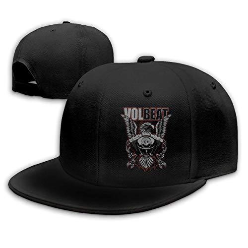 Hip Hop Baseball Cap,Volbeat Adjustable Snapbacks Plain Sun Hats Black