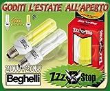 S & G Kit Lampada Basso CONSUMO BEGHELLI 1+1 Anti ZANZARE Insetti LAMPADINE 2PZ