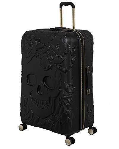 it luggage Skulls II Hardside Expandable Spinner, Black, Checked-X-Large 32-Inch