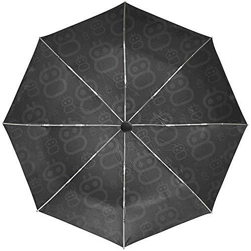 Automatische Regenschirm-Roboter-Wanzen-Hintergrund-Beschaffenheits-Reise bequemes winddichtes wasserdichtes faltendes Auto öffnen Sich nah
