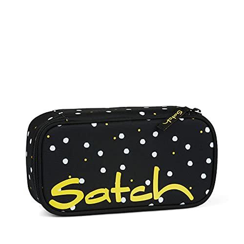Satch Schlamperbox - Mäppchen groß, Trennfach, Geodreieck - Lazy Daisy - Schwarz