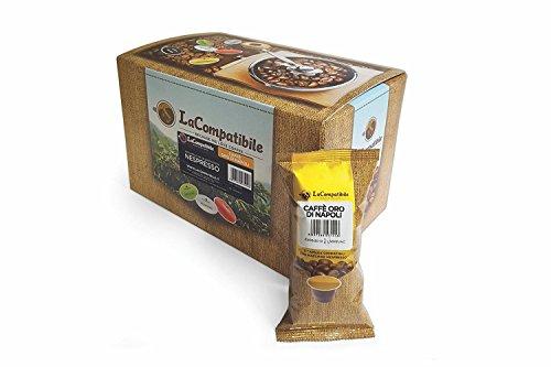 LaCompatibile.it NESPRESSO - 100 Capsule Compatibili Caffè Oro di Napoli