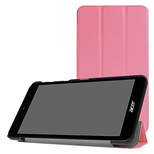 Mama Mouth Ultra leichten PU Leder Stehen Cover für Acer Iconia One 7B1–7907.0Tablet [mit automatischer Wake/Sleep-Funktion] rosa Rose