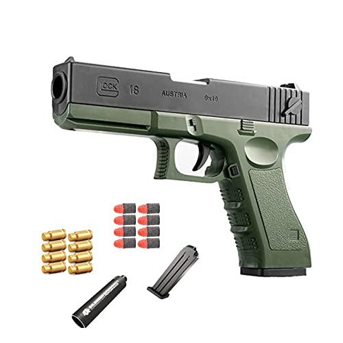 Pistolas de juguete multiusos, pistola de juguete de bala suave para niños, pistola falsa estilo M1911, pistola de juguete para niños, juguete de pistola de bláster de tamaño 1: 1 realista-Gre