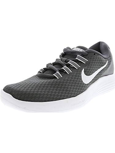 Nike Women's Lunarconverge Dark Grey/White Cool Ankle-High Running Shoe - 8M