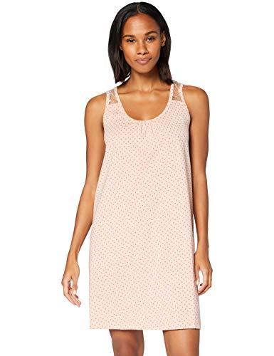 Amazon-Marke: Iris & Lilly Damen Negligee aus Baumwolle, Pink (rosa Herzen), L, Label: L