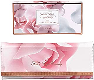 Ted Baker Sunglasses Case with Cleaning Cloth, Porcelain Rose