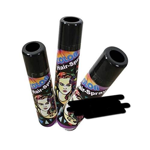 PARTY DISCOUNT® Farbiges Haarspray - lässt Sich Wieder auswaschen, schwarz, 100 ml