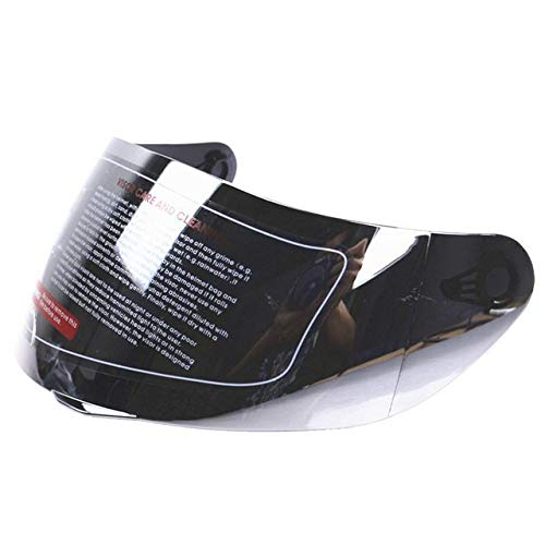 Ocamo Visera para casco integral, universal, antiarañazos, para AGV K3 SV K5, lente plateada