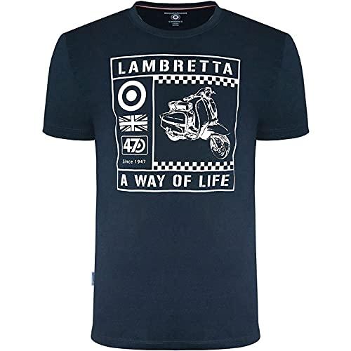 Lambretta Camiseta para hombre Scooter Graphic, azul marino, 3XL