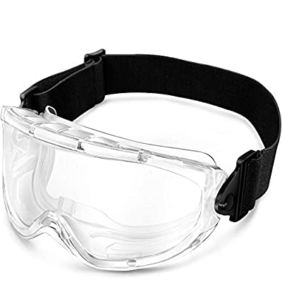 Safety Goggles - Spherical Medical Protective OTG Anti-splash Glasses -1Pack