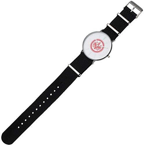 Eintracht Frankfurt Herren Armbanduhr - Big Logo - schwarz, Uhr in Metallbox, Watch SGE - Plus Lesezeichen I Love Frankfurt