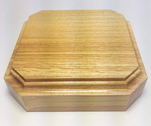 HEWA Holzsockel Esche Natur lackiert abgeschrägte Ecken, 4 cm hoch Größe wählbar (200 mm)