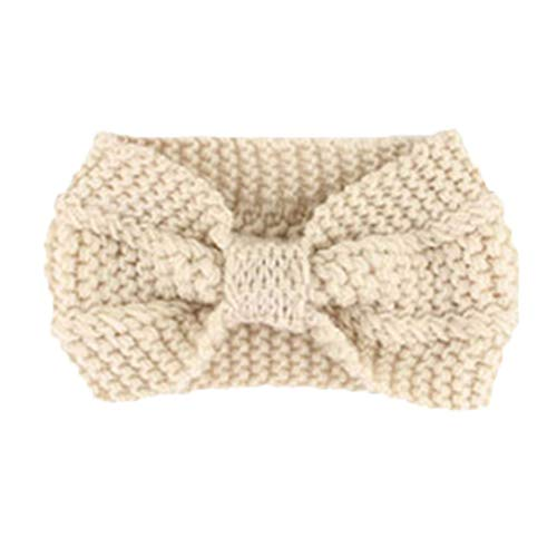 DRESHOW 4 Pack Womens Winter Ear Warmer Headband - Crochet Knit Turban Headband Chunky Cable Knit Headwrap