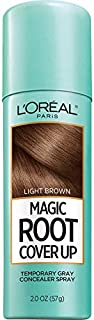 L'Oreal Paris Magic Root Cover Up Gray Concealer Spray Light Brown 2 oz.(Packaging May Vary)
