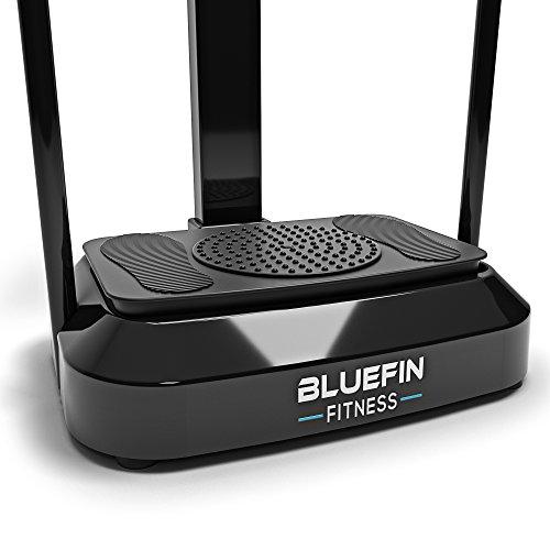Bluefin Fitness Plateforme Vibrante Pro Sport à la Maison | Expérience Fitness | Rotation des Hanches 360 | Moteurs Silencieux | Haut-parleurs | Design Anglais (Noir)