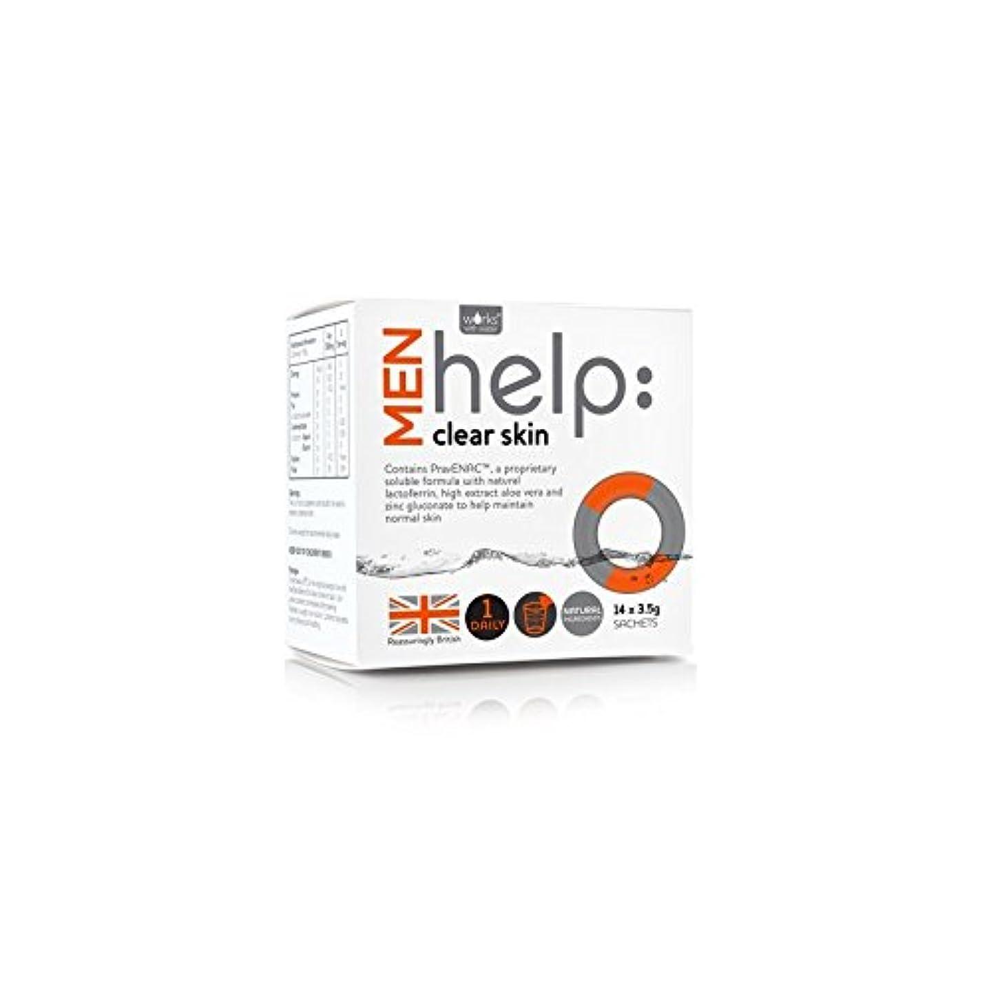 共和国宿泊施設精神的にWorks With Water Men's Help: Clear Skin Soluble Supplement (14 X 3.5G) (Pack of 6) - クリアな肌可溶性サプリメント(14 3.5グラム):水男性の助けを借りて動作します x6 [並行輸入品]