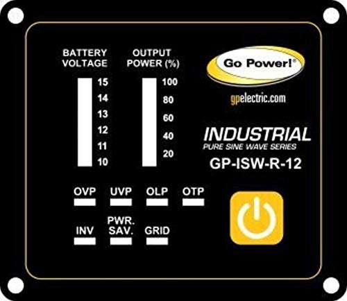 Go Power GP-ISW-R Industrial Pure Sine Wave Inverter Remote for ISW Inverters