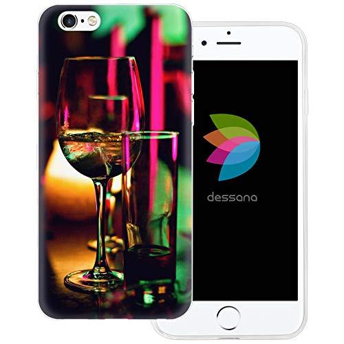 dessana - Cover trasparente con alcool, per Apple iPhone 6 Plus/6S Plus, lenti neon
