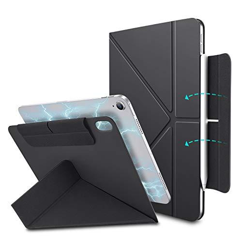 ESR Funda Origami para iPad Air 4 (2020) 10,9 Pulgadas [Soporte Origami Bidireccional] [Funda Inteligente Flexible], Negro