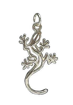 Fait main pendentif en argent massif 925 Gecko Salamandre PE000068 Empress