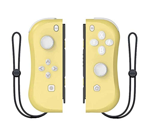 Switch Wireless Controller Joypads CHASDI. Pair of Remote Motion Controllers with Micro USB Charging Cable & Joy-Con Alternative Compatible with Nintendo Switch (Yellow)