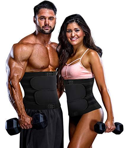 COMFREE Faja Lumbar de Adelgazamiento Abdominal para Hombres y Mujeres Cinturón de Soporte para Sauna