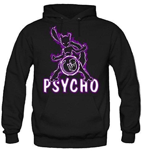 uglyshirt89 Psycho Kapuzenpullover | Manga | Männer | Herrn | Baumwolle | Go | Comic | Anime | Pokemon | Intuition | Mystic | Valor (L, Schwarz)
