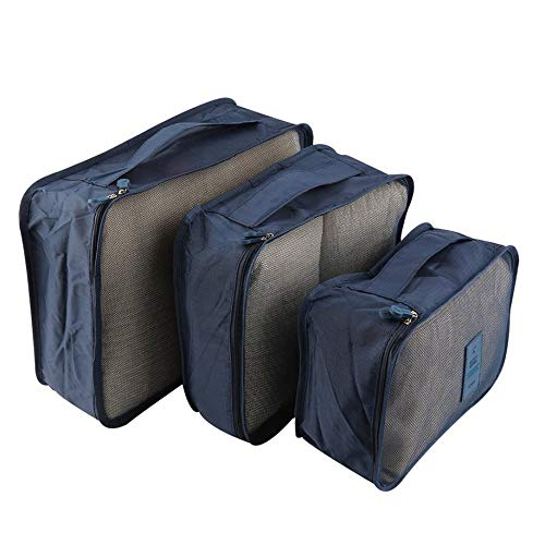 N / E 6PCS Clothes Storage Bag Portable Waterproof Clothes Storage Bag Packing Cube Travel Luggage Organizer Durable Clothes Sock Bra Storage Bag