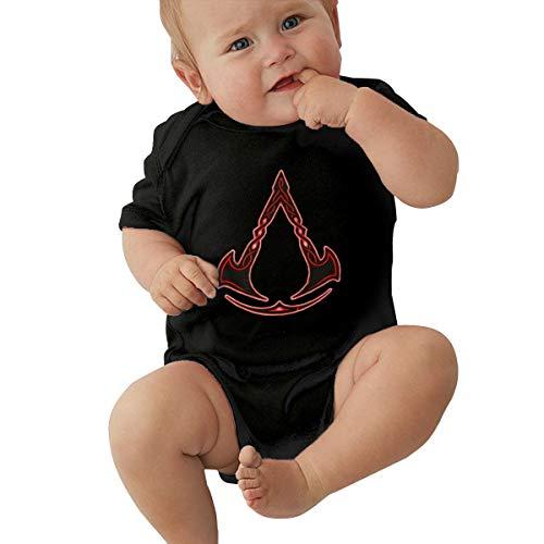 Assassin's Creed Logo Baby Onesies Unisex-Baby Cotton Short Sleeve Shirt Black