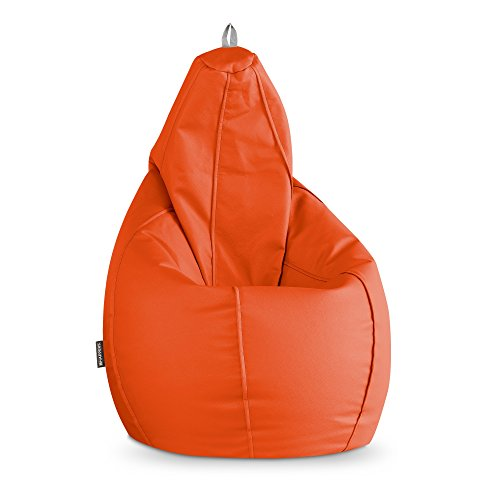 HAPPERS Puff Pera Polipiel Indoor Naranja XL