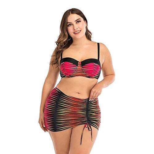 Traje de baño de Mujer Gorda con Falda de Bikini Grande