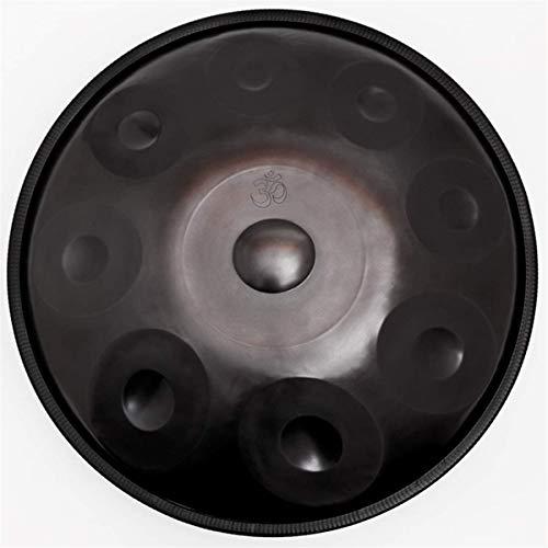 Handpan en D Minor 9 Notas Tambor de Acero, 22inch / 56cm armónica percusión for Sound Healing, 9 Notas D3 A BB C D E F G A, con Mano Suave Pan Bolsa,Tongue Drum (Color : Brown)
