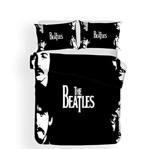 SK-PBB Beatles - Juego de funda de edredón y funda de almohada de microfibra de 50 x 75 cm (3220 x 240 cm)