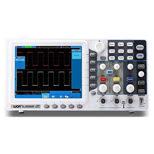 Osciloscopio digital SDS6062E portátil del osciloscopio digital de 2 + 1 canal de 60 MHz 500MS / s de 8 pulgadas de alta definición de pantalla TFT 10K Longitud de registro Kit de osciloscopio profesi