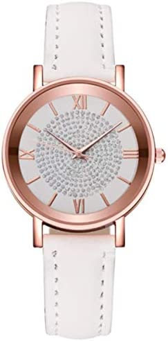 Women s Watch Exquisite Leather Band Watch Stainless Steel Dial Ladies Waterproof Watches for product image