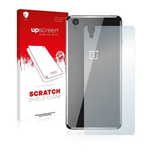 upscreen Schutzfolie kompatibel mit OnePlus X Ceramic (Rückseite) – Kristallklar, Kratzschutz, Anti-Fingerprint