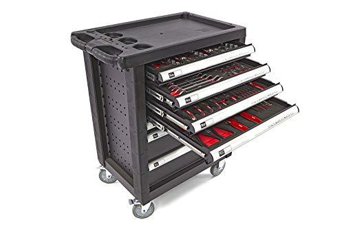 Nr. 8889 - gefüllter 154 teiliger Werkstattwagen Werkzeugwagen 6 Schubladen