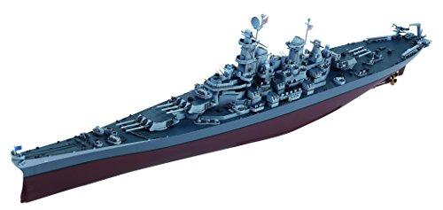 童友社 1/700 凄!船舶プラモデル No.21 アメリカ海軍 戦艦 ミズーリ BB-63 色分け済みプラモデル