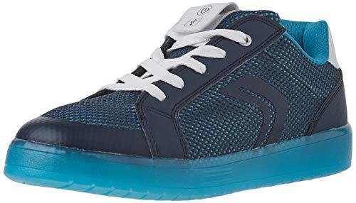 Geox Jungen J KOMMODOR Boy A Sneaker, Blau (Navy/Lt Blue), 28 EU