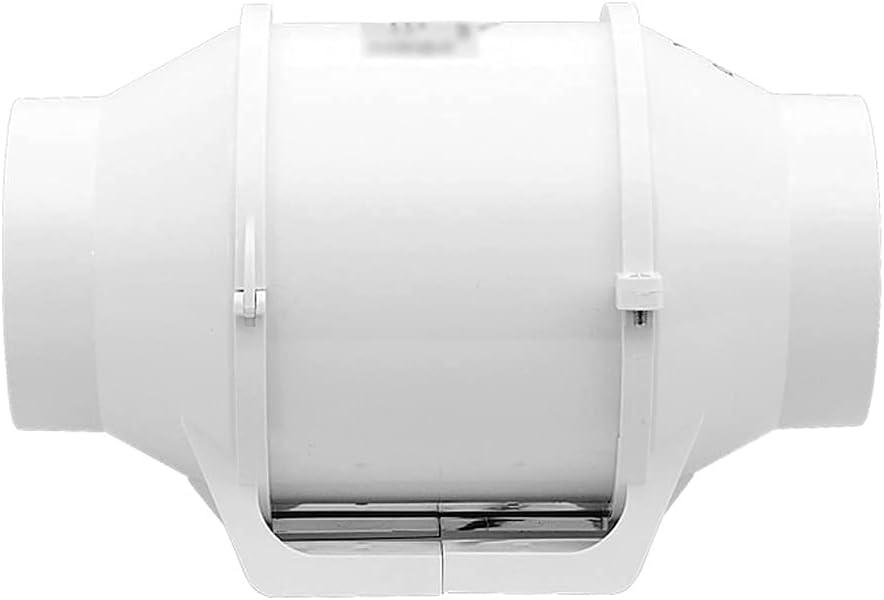 Ventilador de conducto en línea de 5 Pulgadas Ventilador Extractor de Aire Tubo de ventilación de Techo Ventilador de Escape Ventilador de baño con conductos Ventilador de Refuerzo 220v