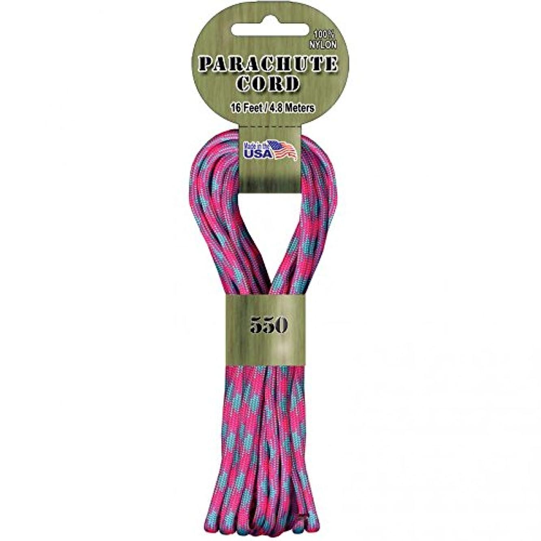 Pepperell Darice 550 Parachute Cord: California Dreamin, 16 Feet, Multicolor