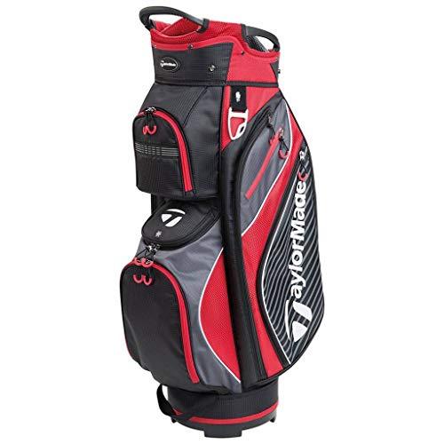 TaylorMade Golf 2018 Pro Cart 6.0 Cart Bag Mens Trolley Bag 14 Way Divider Black/Charcoal/Red