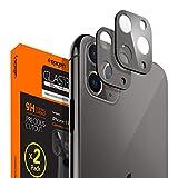 Spigen, 2 Pack, Cámara Lente Protector Pantalla iPhone 11 Pro / 11 Pro MAX (Space Gray), Cobertura Completa, Compatible con Las Fundas, Protector Cámara iPhone 11 Pro / 11 Pro MAX (AGL00503)